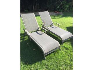 2 Sillas estilo chaise para terraza/piscina, Puerto Rico