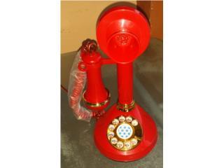 Telefono Antiguo de Mesa Rojo, Puerto Rico