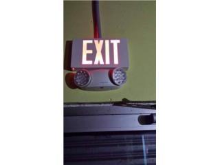 exit emergencia y lampara d seguridad, Puerto Rico