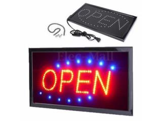 LETRERO OPEN LED 19X0, Puerto Rico