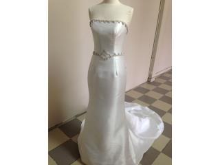 traje de novia blanco strapless sirena, Puerto Rico
