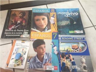 Vendo textos escolares , Puerto Rico