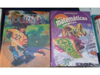 Libros de 5to grado matemáticas y ingles, Puerto Rico