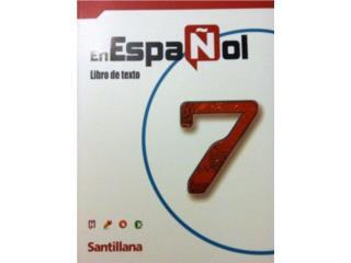 En Espanol 7, tengo 2 sets, incluye cuaderno, Puerto Rico