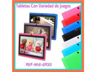 TABLETAS A COLORES CON JUEGOS INFANTILES, Puerto Rico