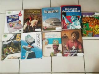 Libros escolares, en buen estado, Puerto Rico