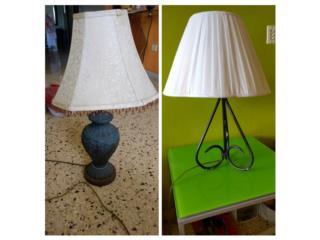 Dos lámparas de mesa, Puerto Rico