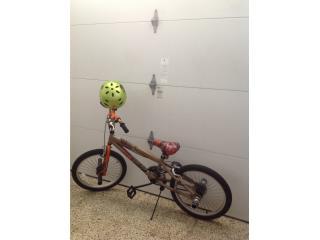 Bicicleta thruster 20 en aluminio con casco, Puerto Rico