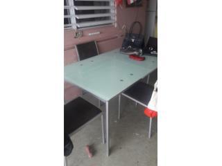 Juego de comedor cristal extencible 150.00, Puerto Rico