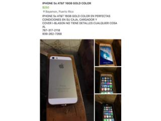 IPHONE 5S 16GB AT&T COLOR GOLD, Puerto Rico