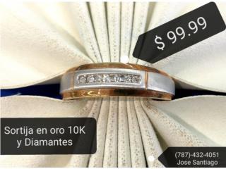 Sortija en oro 10K y Diamantes, Puerto Rico