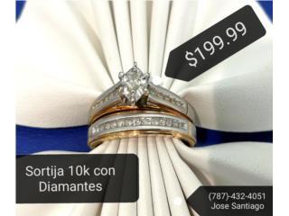 Sortija 10K con Diamantes, Puerto Rico