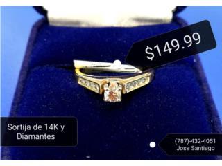 Sortija 14K y Diamantes, Puerto Rico