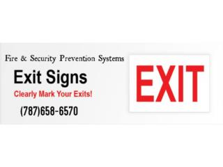 EXIT SIGN LED, Puerto Rico