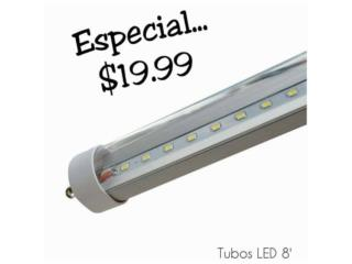TUBOS LED 8', Puerto Rico
