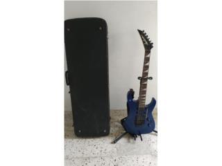 Guitarra Jackson azul metalico con estuche , Puerto Rico