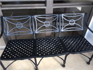 Mueble de patio en hierro, Puerto Rico