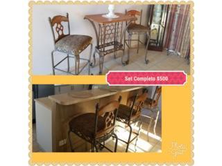 Antique stools y mesa vinera, Puerto Rico