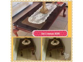 set de 3 mesas antiguas, Puerto Rico