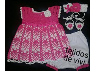 Set tejido de nena, fucha, Puerto Rico