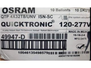 ballast electronicos Sylvania 120/277, Puerto Rico