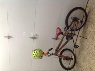 Bicicleta thruster 20 con casco, Puerto Rico