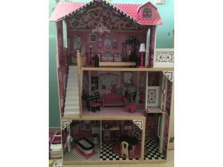 Casa de Barbie en madera, de 3 pisos , Puerto Rico