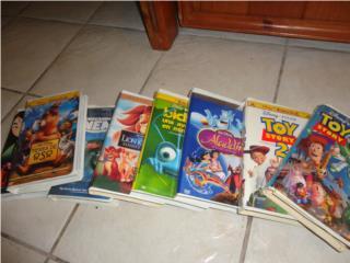Peliculas en VHS, clasicos de Disney, Puerto Rico