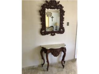 Consola y espejo victoriana, Puerto Rico
