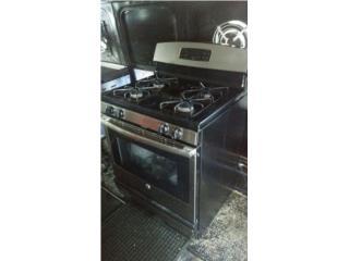 Estufa de gas 4 hornillas y horno, Puerto Rico