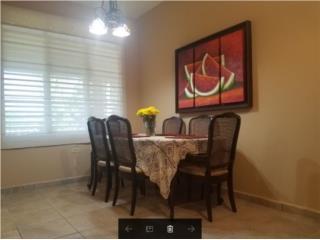 Juego de Comedor Antiguo 6 sillas y mesa, Puerto Rico