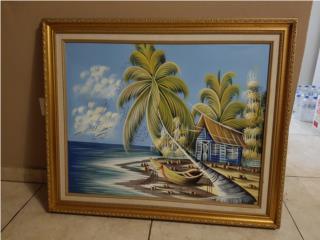 Cuadro pintado en óleo , Puerto Rico