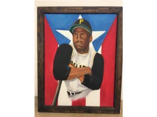 ROBERTO CLEMENTE ACRILICO ON CANVAS,ART/PEREZ, Puerto Rico