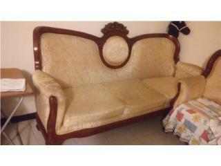 Hermosos muebles victorianos tallados a mano, Puerto Rico