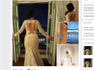 Traje de novia de D Royal color nude and beige, Puerto Rico