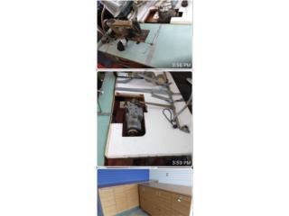 Maquinas de coser, counter en madera, Puerto Rico