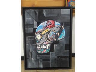 Pop Skull 30x40, Puerto Rico