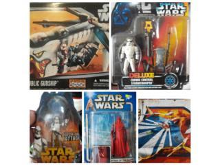Variedad de figuras y naves de Star Wars nuevas, Puerto Rico