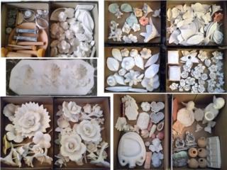 Ceramicas, Moldes de Flores, Figuras , Puerto Rico