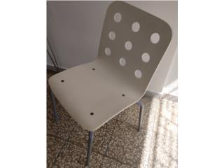 Trio sillas de Kopper. Una de escritorio, Puerto Rico
