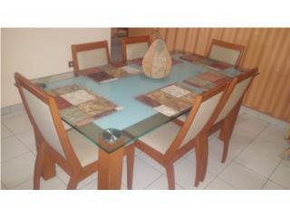 Mesa de comedor con 6 sillas exelentes condiciones, Puerto Rico
