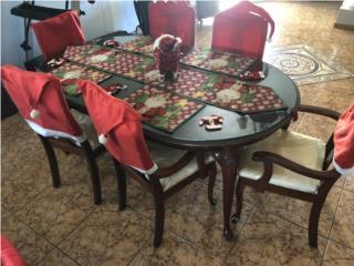 Juego de comedor de 6 sillas $250.00, Puerto Rico