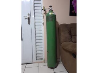 tanque grande de oxigeno vacio 200 con regulador, Puerto Rico