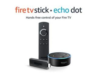 Amazon Fire Stick 1080p y 2 Amazon Echo Dot , Puerto Rico