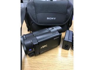 Camara Video 4K Sony con Bulto como nueva, Puerto Rico