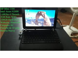 HP Mini 1104 Con Cargador y Bateria Nueva, Puerto Rico