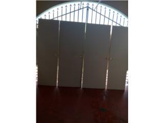 Ganga cuatro puertas en madera con sus marcos, Puerto Rico