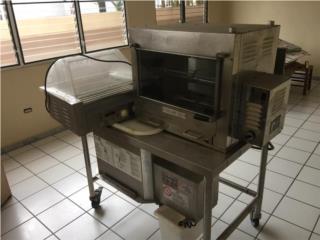 Asador de carne, empanadora y máquina hot dogs , Puerto Rico