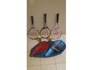 Raquetas de tenis Wilson con bolas y bulto , Puerto Rico
