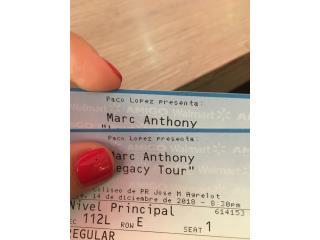 2 Taquillas | Marc Anthony | 14-Dic, Puerto Rico